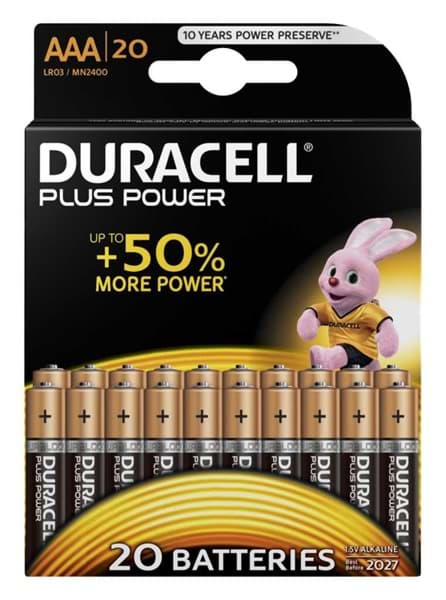 Bild von Duracell Plus Power MN2400 Micro 20er-Blister